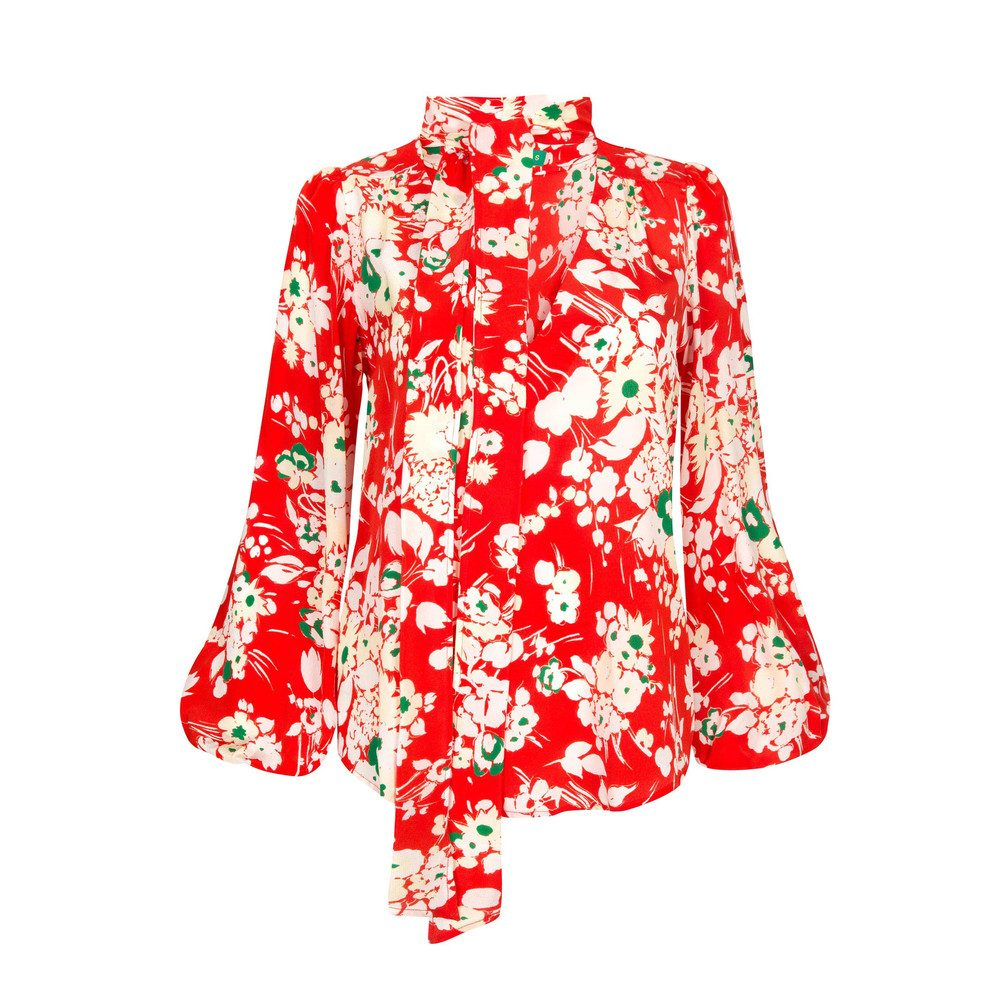 Moss Blouse - Red Bunch Floral