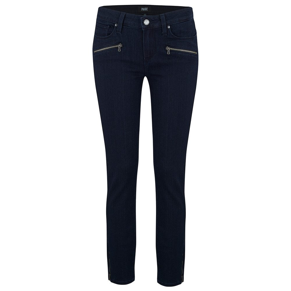 Jane Zip Mid Rise Skinny Cropped Jeans - Alley