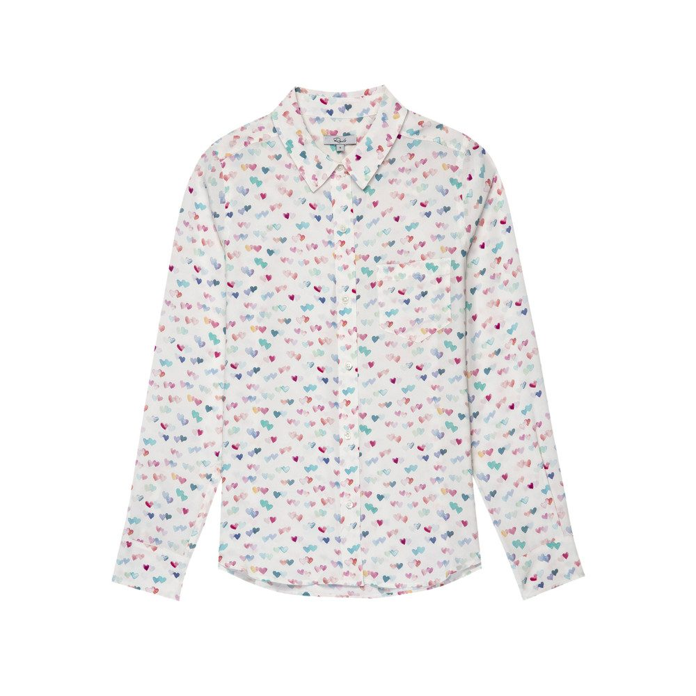 Kate Silk Shirt - Watercolour Heart