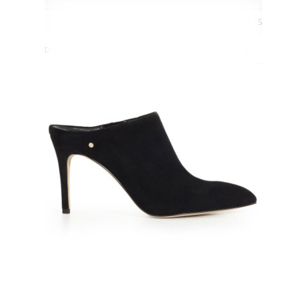 Oran Stiletto Suede Mule - Black