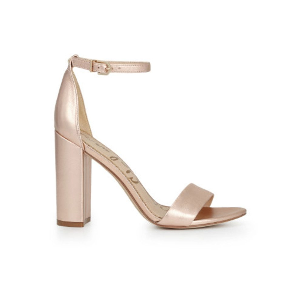 Yaro Ankle Strap Heels - Blush Gold