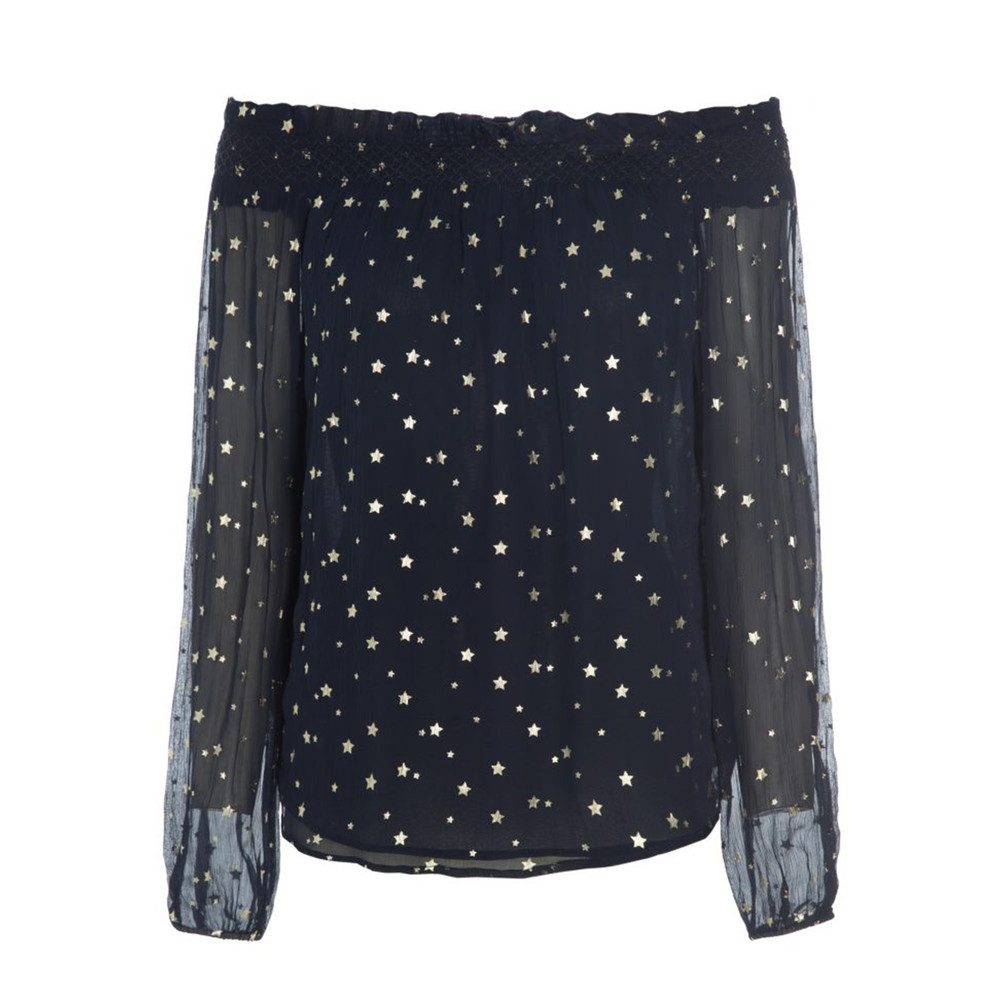 Holly Star Blouse - Navy