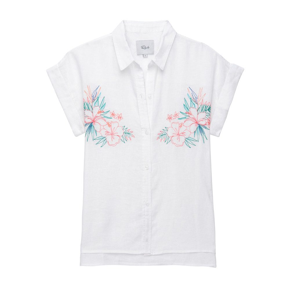 Whitney Embroidery Top - White