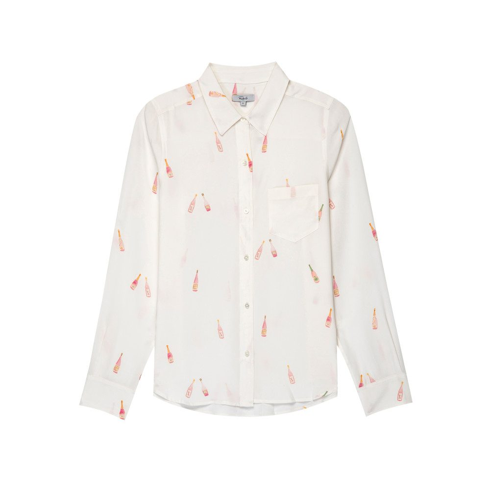 Kate Silk Shirt - Rose All Day