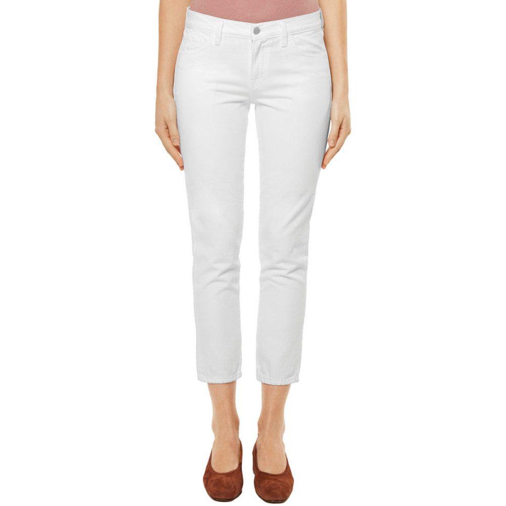 Sadey Slim Straight Jeans - White