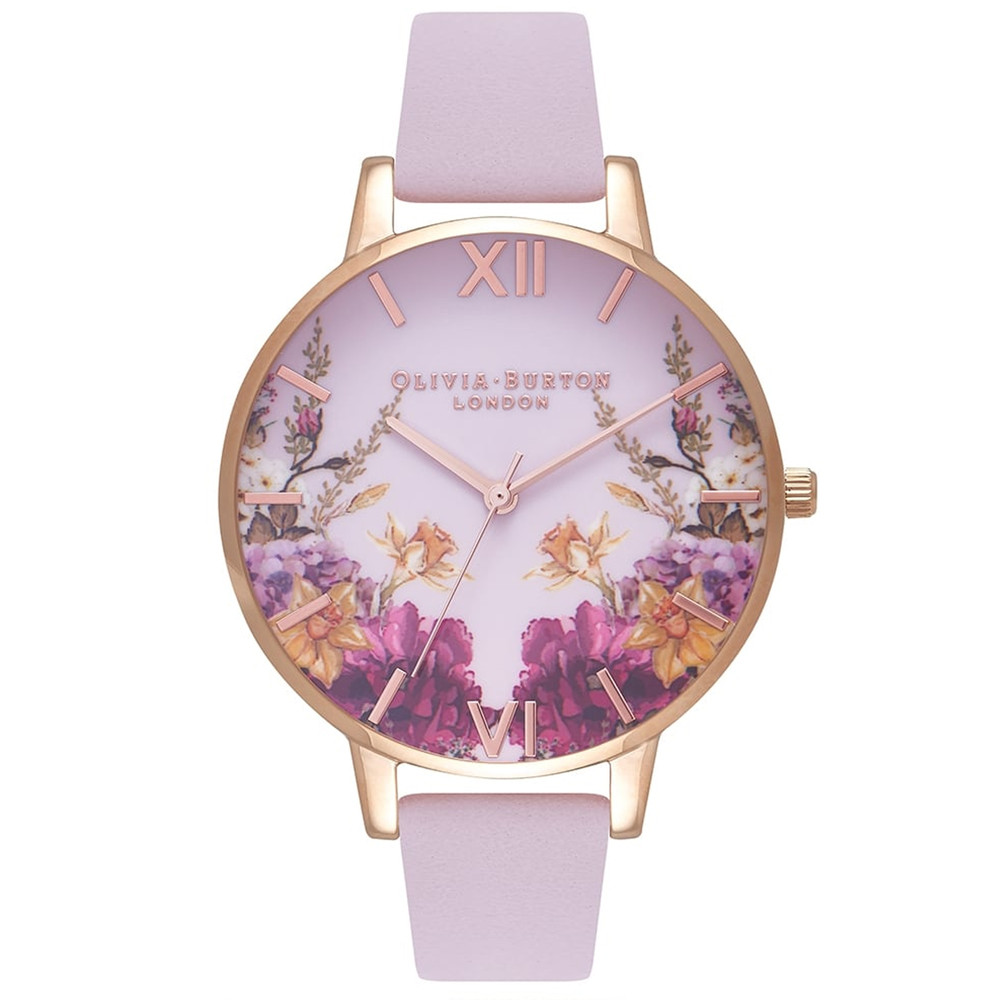 Enchanted Garden Big Dial Watch - Blossom & Rose Gold