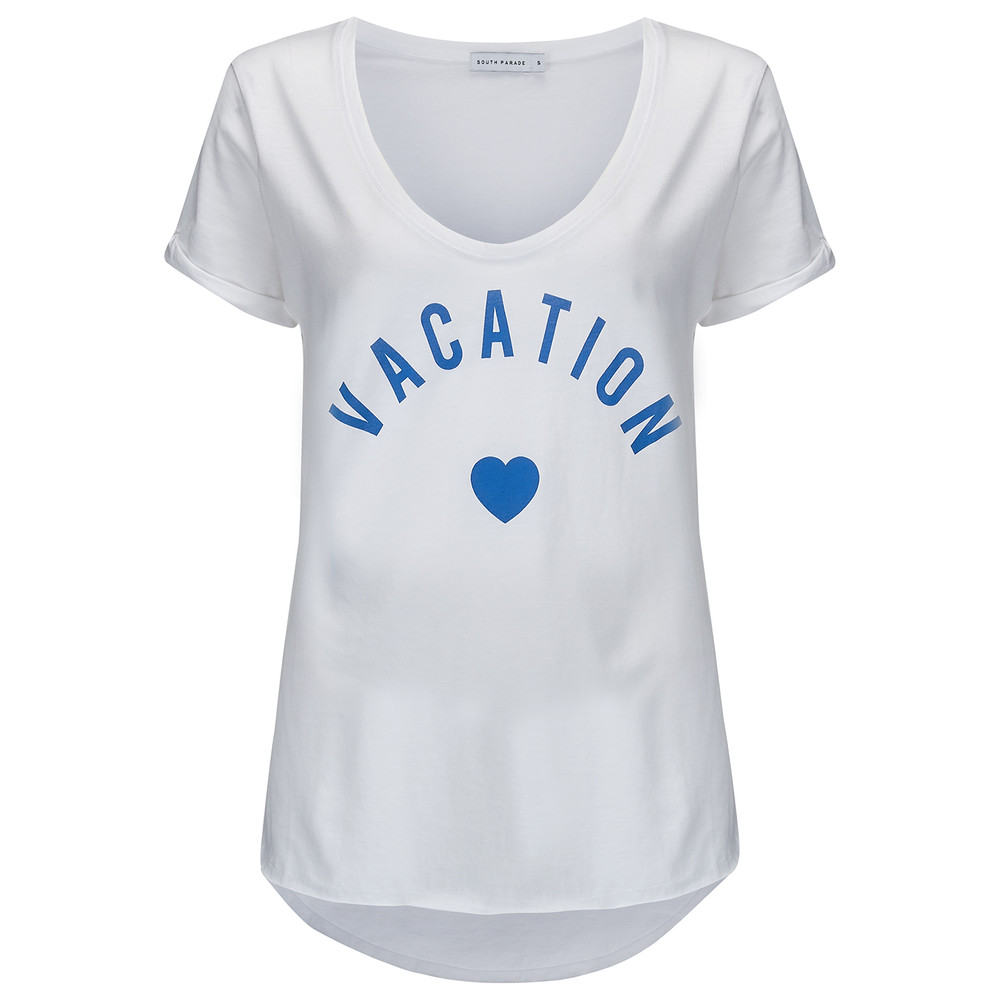 Valerie Vacation Tee - White