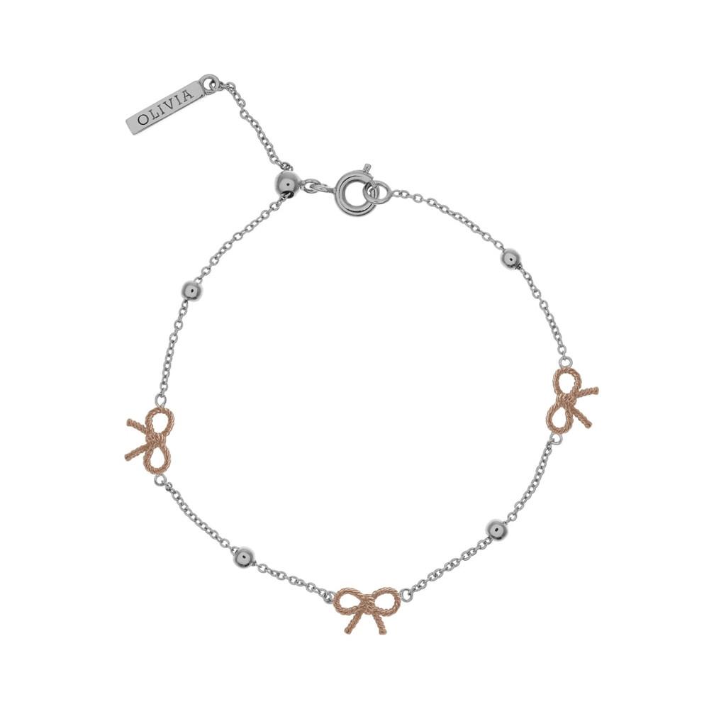 Bow & Ball Bracelet - Silver & Rose Gold
