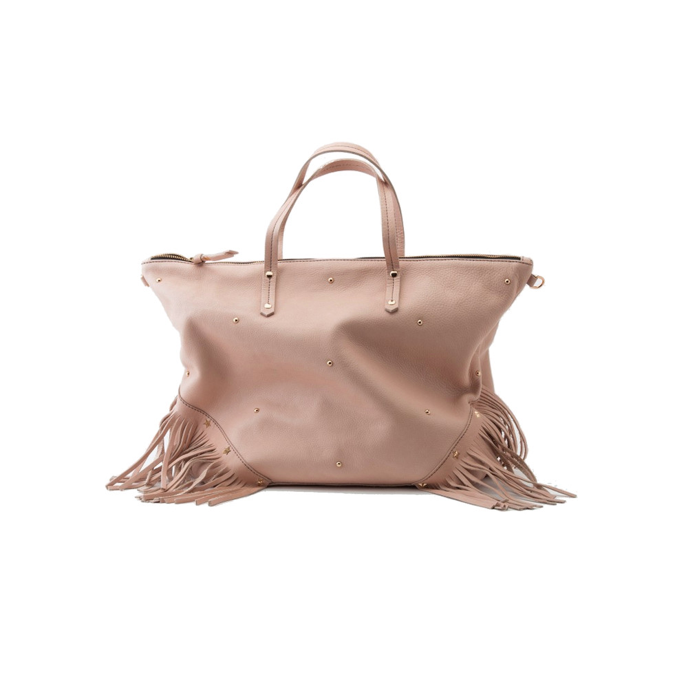 Carpenter Fringe Bag - Pink