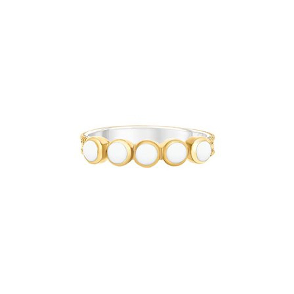 Clarity White Agate Multi Stone Ring - Gold