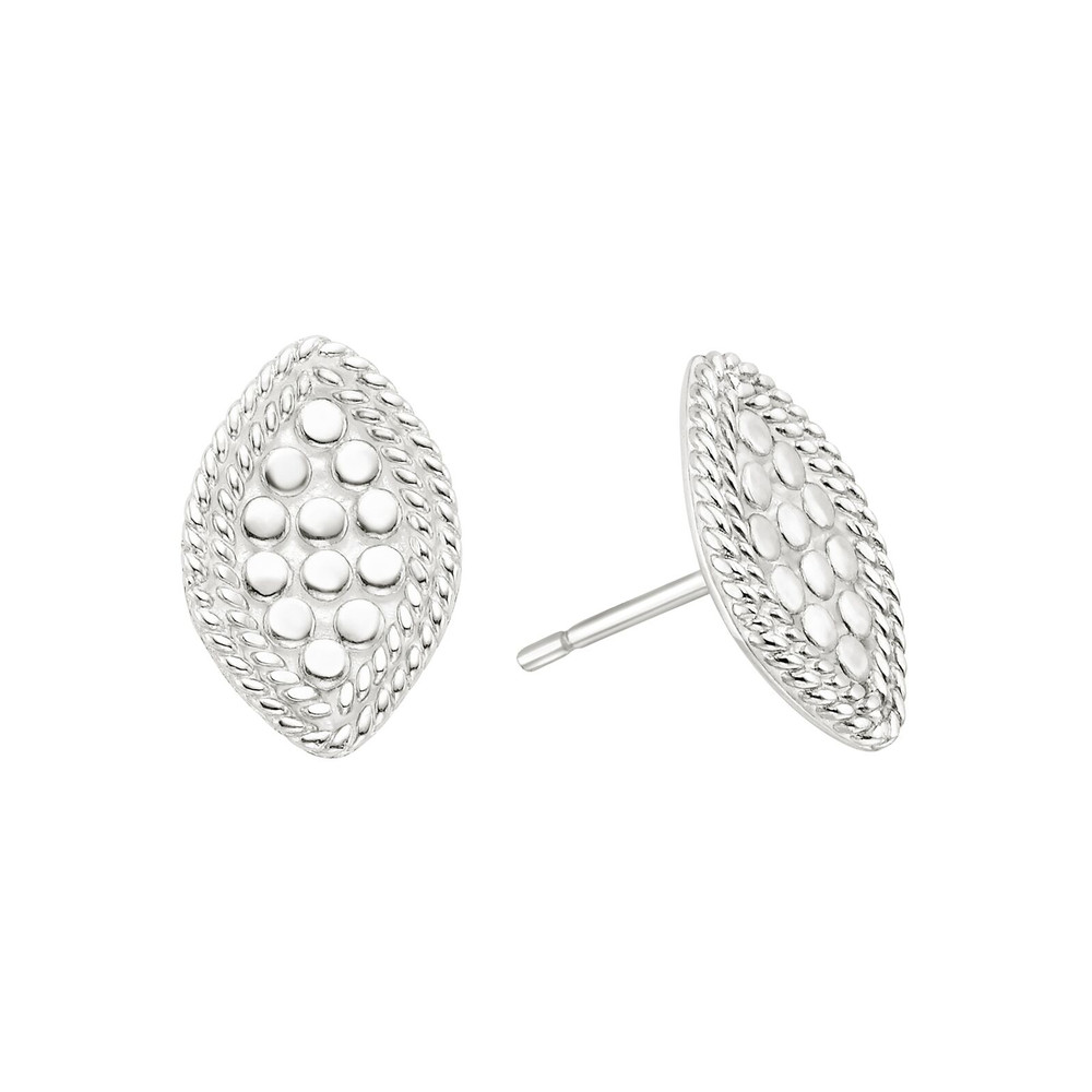 Marquise Stud Earrings - Silver