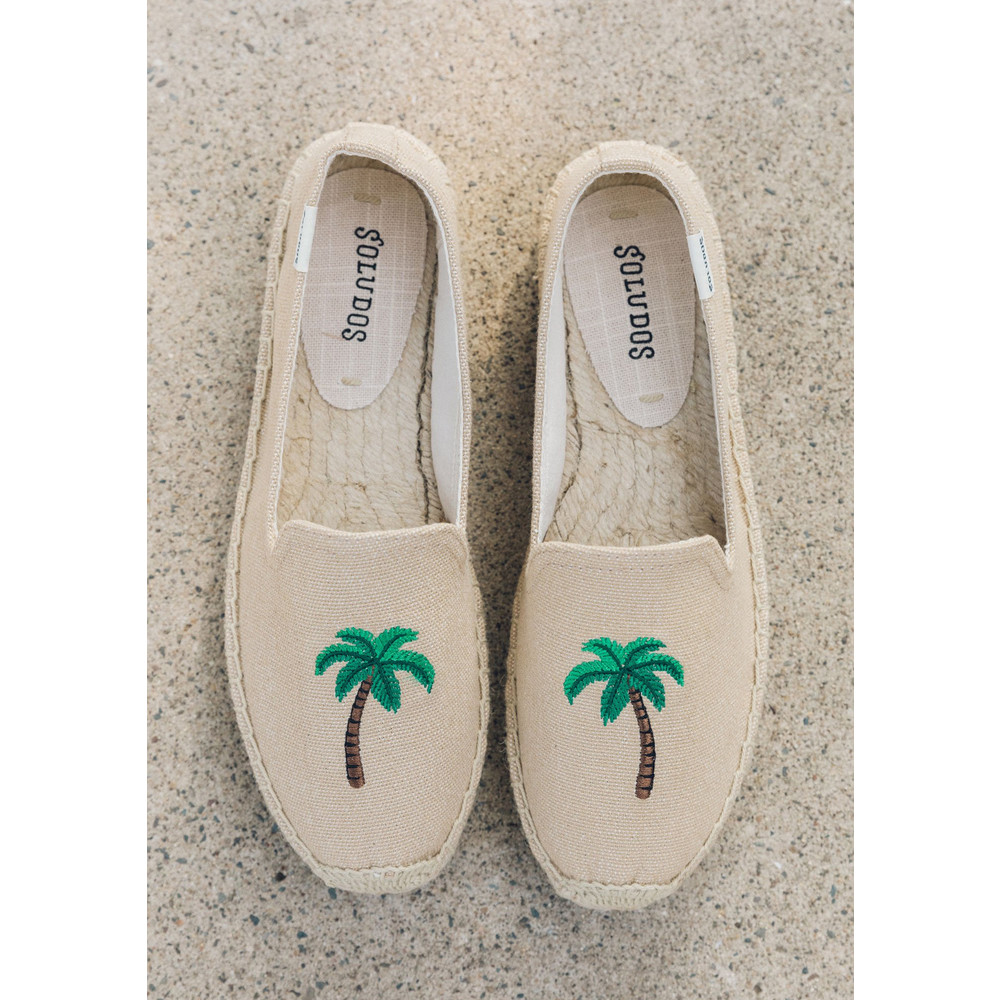 Palm Tree Platform Smoking Slipper - Safari