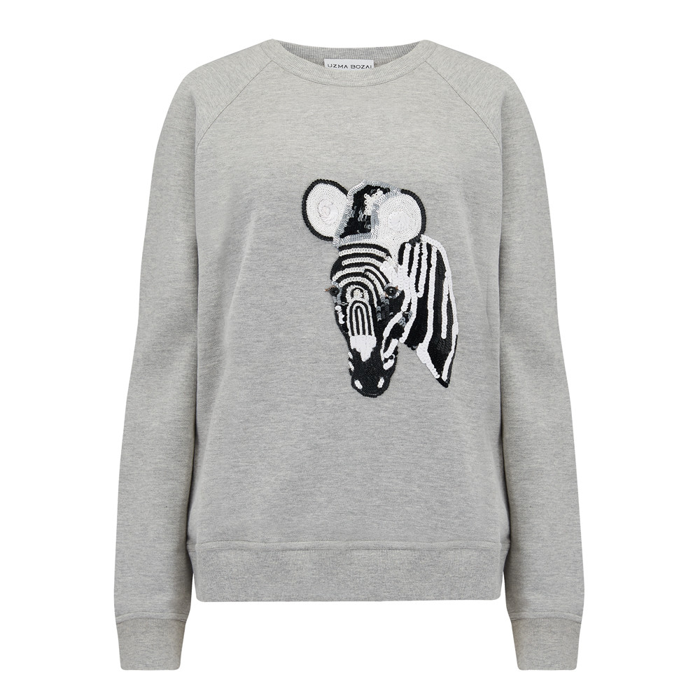 Zebra Sweater - Grey