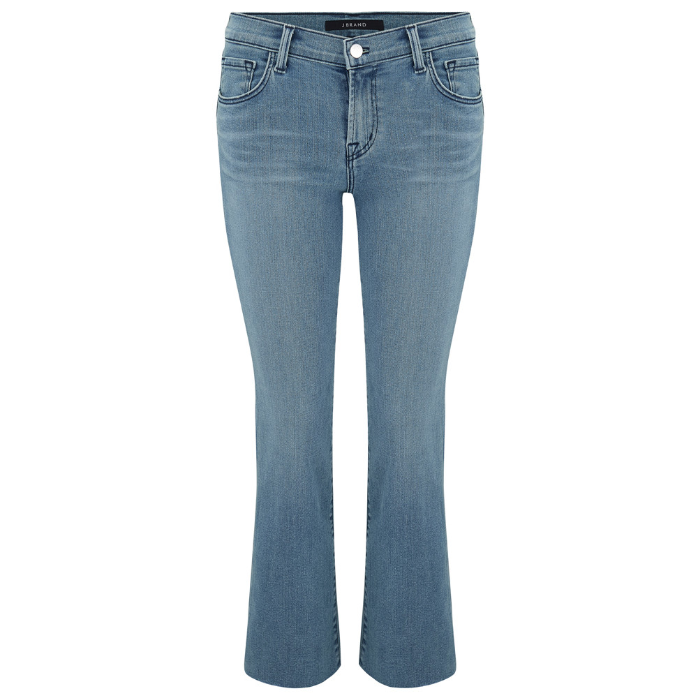 Selena Mid Rise Cropped Boot Cut Jeans - Patriot