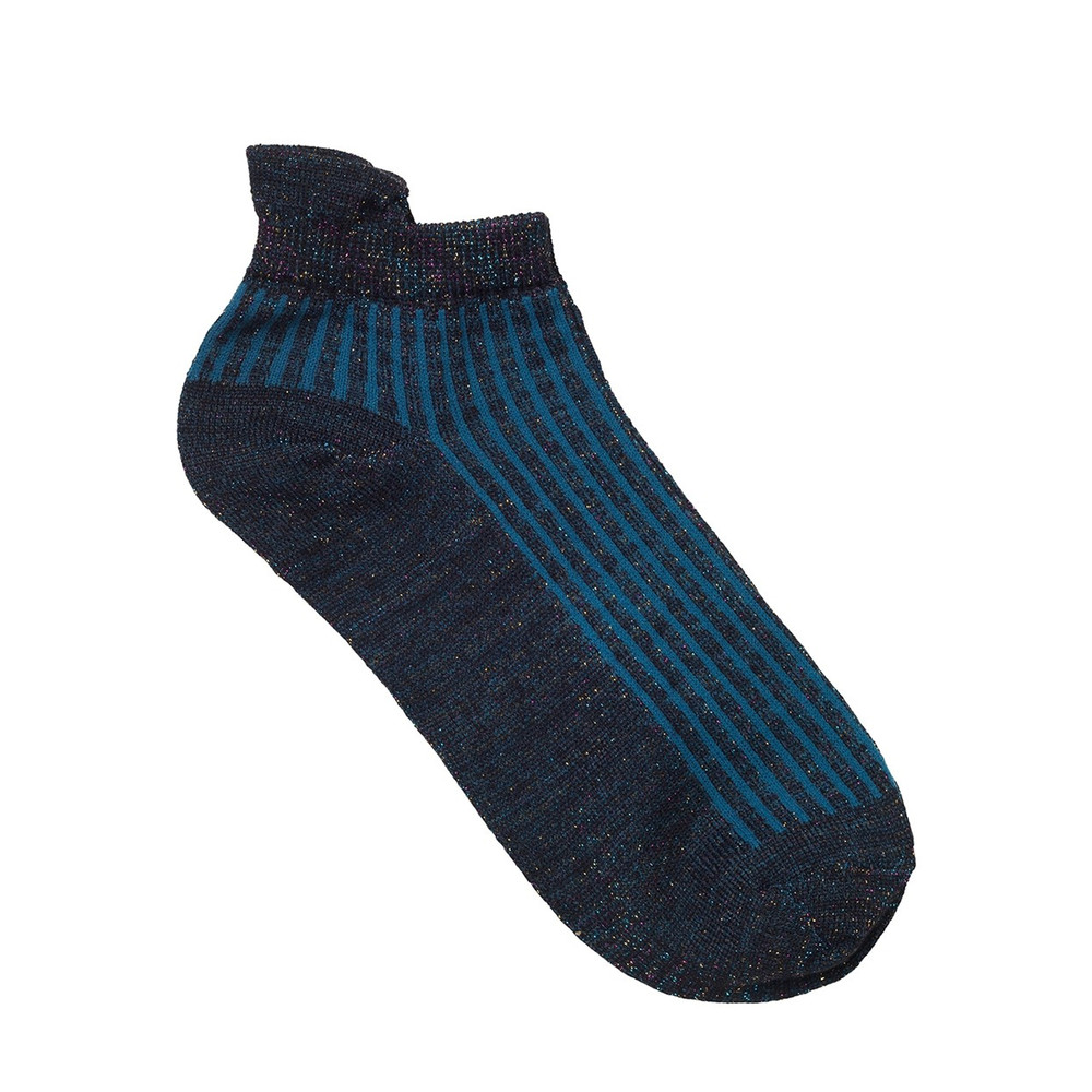 Dollie Summer Stripe Socks - Legion Blue
