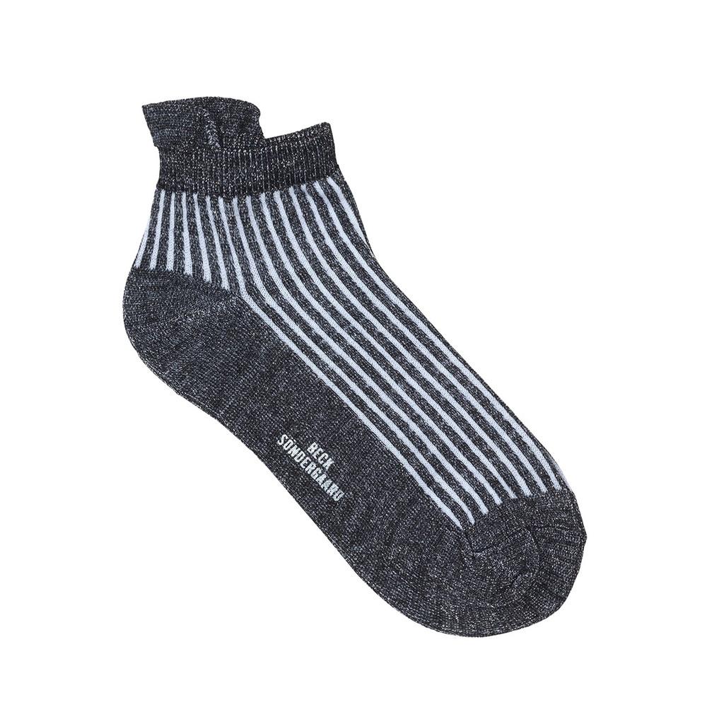 Dollie Summer Stripe Socks - Black