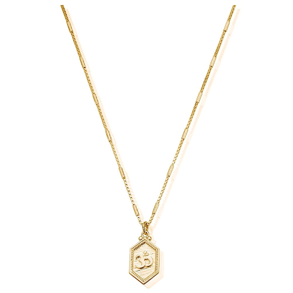 Cherabella Tranquil Om Necklace - Gold
