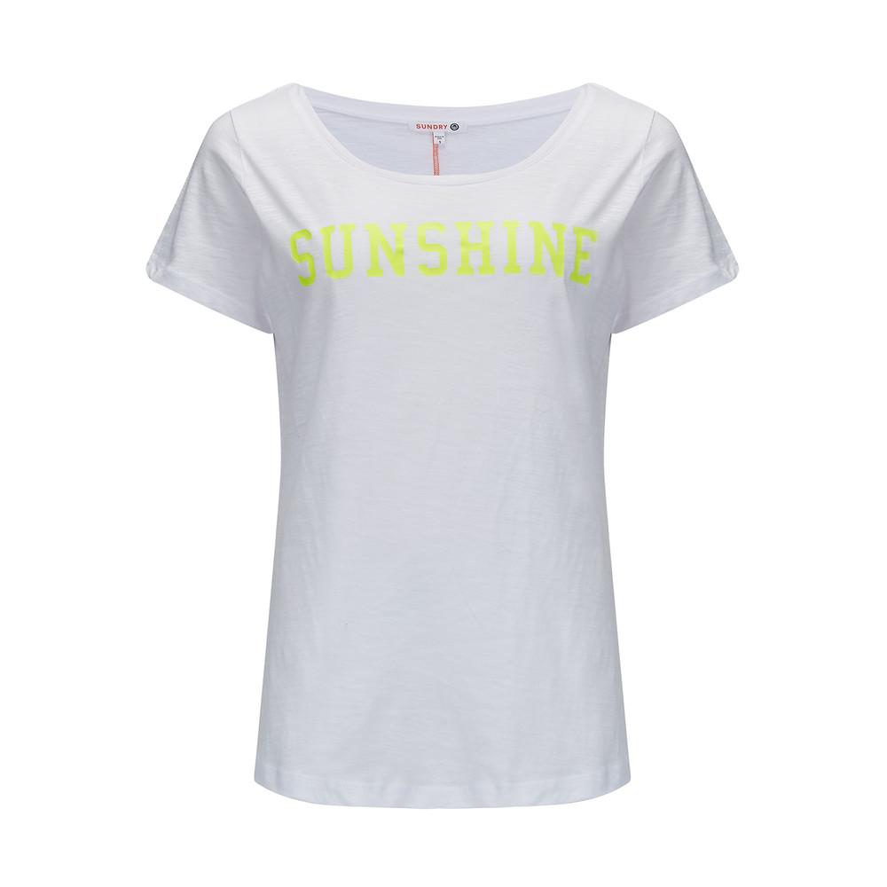 Sunshine T-Shirt - Neon Yellow & White