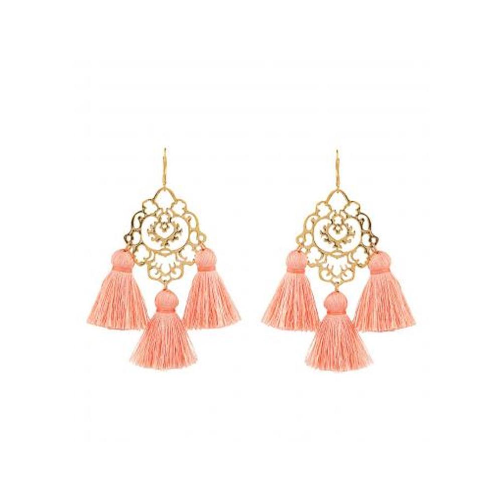 Rita Tassel Earrings - Dusty Pink