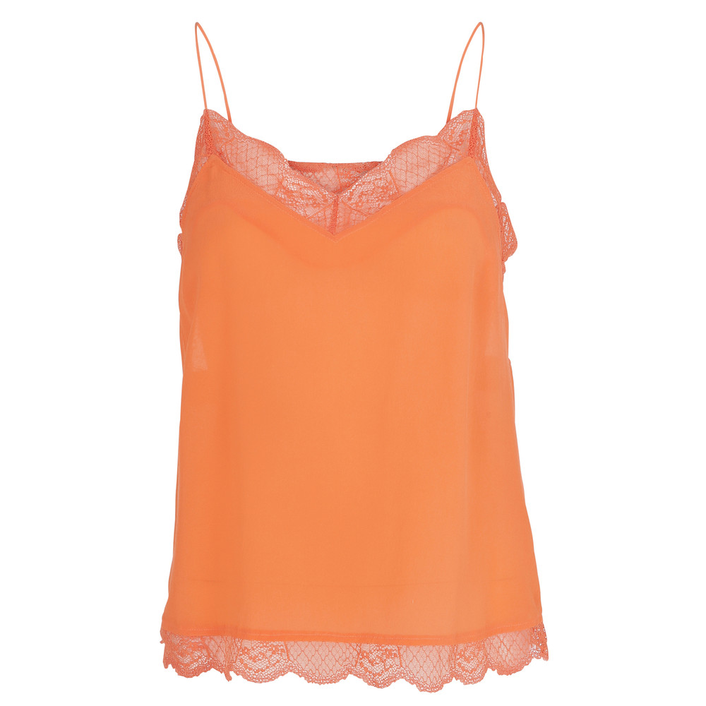 Poulin Lace Camisole - Vermilion Orange