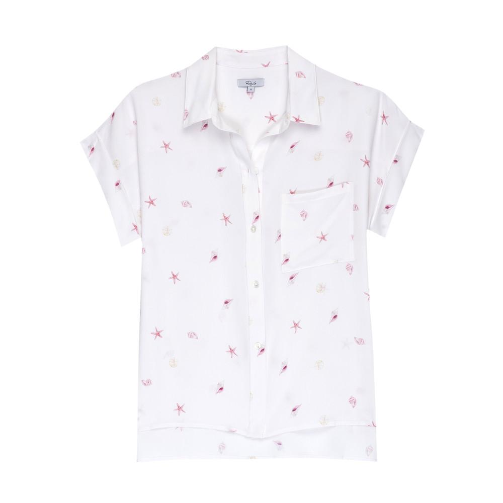 Whitney Silk Shirt - Beach Side