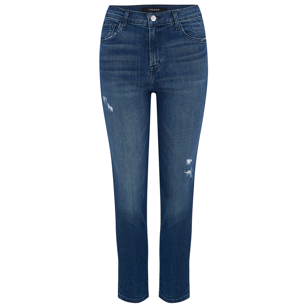 Ruby High Rise Cropped Cigarette Jeans - Mystic