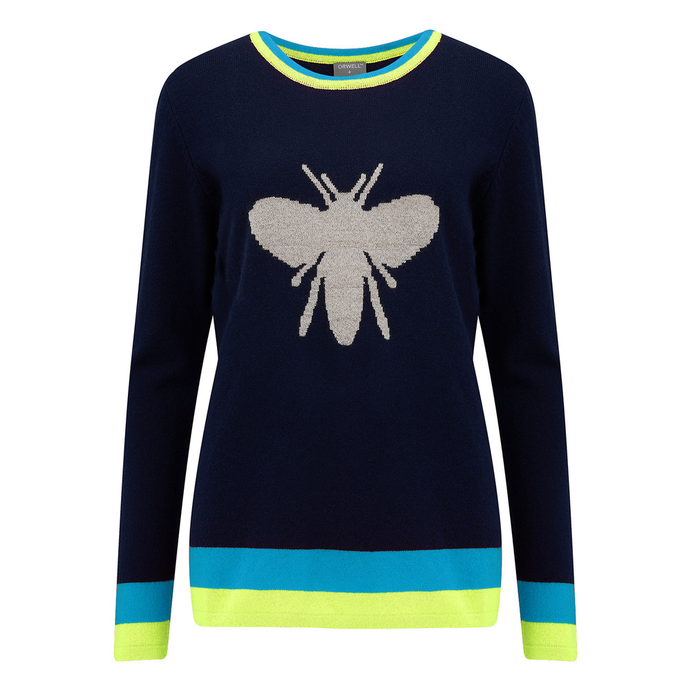 Bee Jumper - Navy & Silver