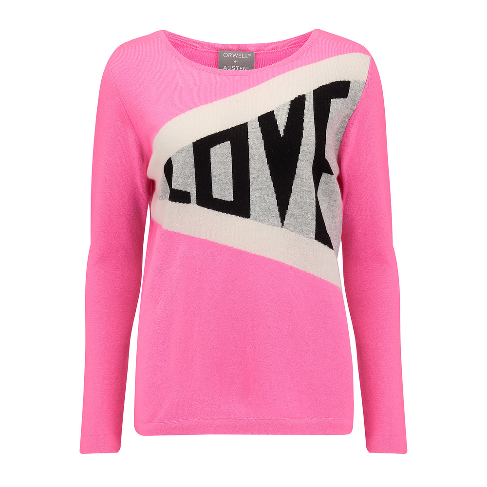 Exclusive Love Jumper - Pink & Grey