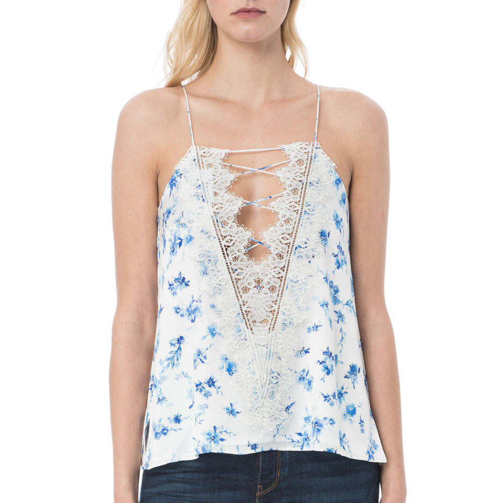 Charlie Charmeuse Camisole - Floral