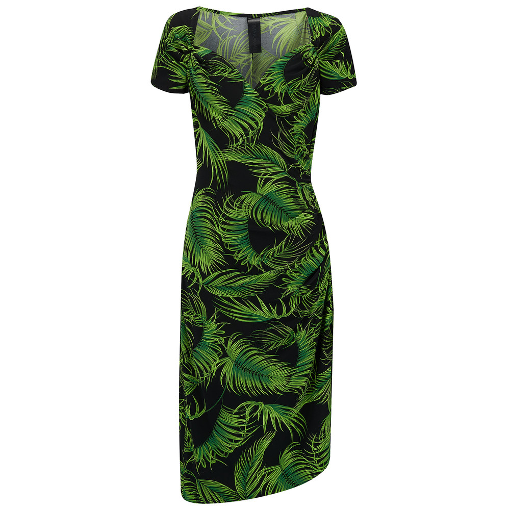 Sweetheart Dress - Palm Leaf