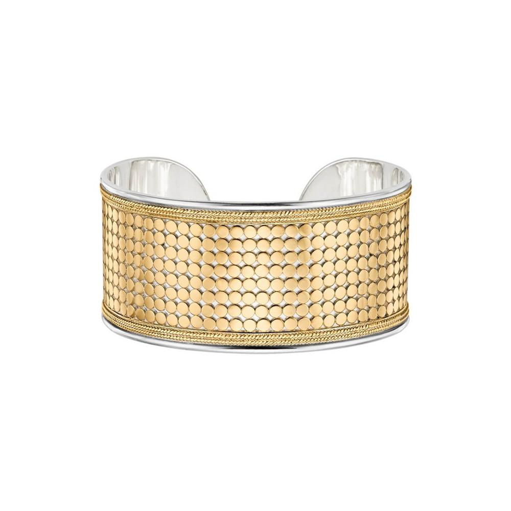 Medium Beaded Cuff - Gold