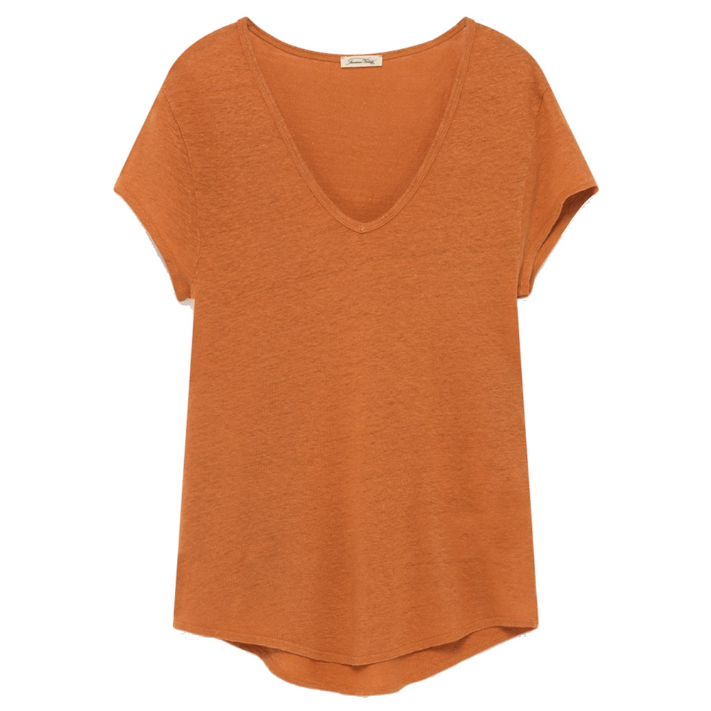 Lolosister Linen Tee - Apricot