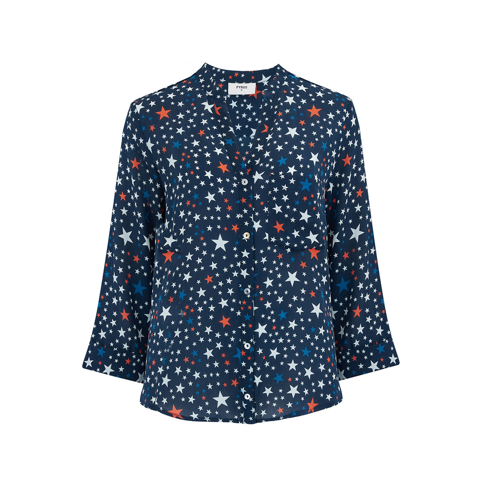 Exclusive Hive Blouse - Stars Navy
