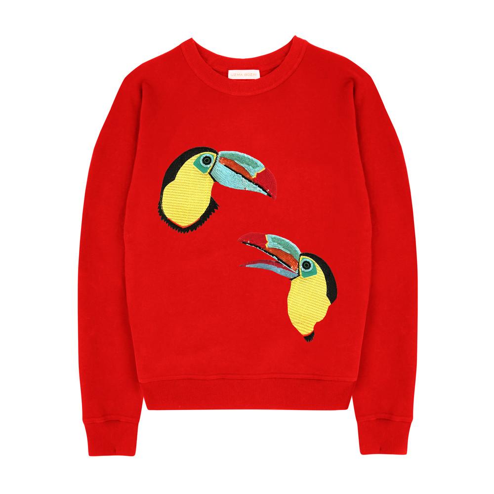 Mia Toucan Sweatshirt - Scarlet
