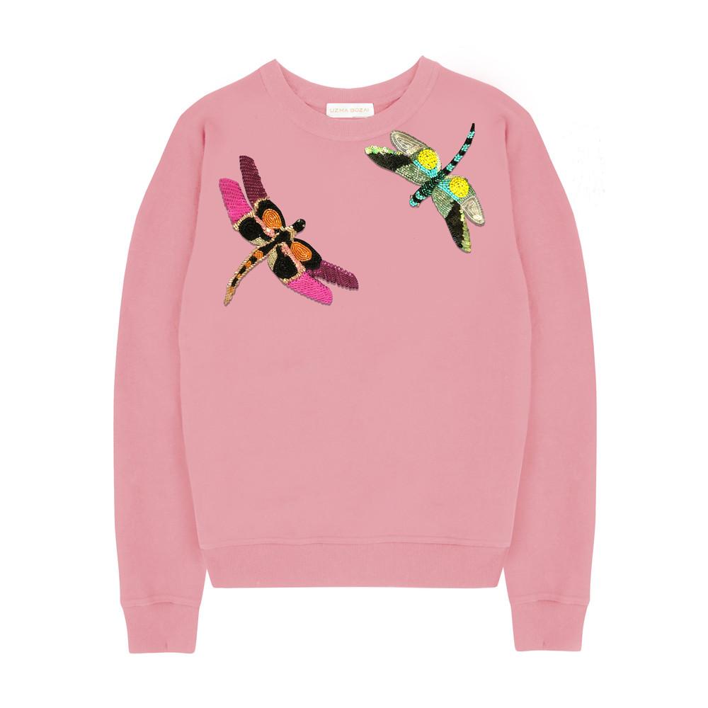 Silvia Dragonfly Sweatshirt - Candy Pink