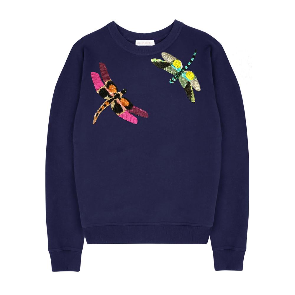 Silvia Dragonfly Sweatshirt - Navy