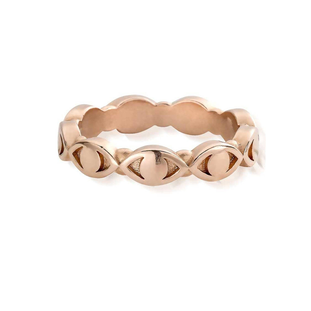 Evil Eye Ring - Rose Gold