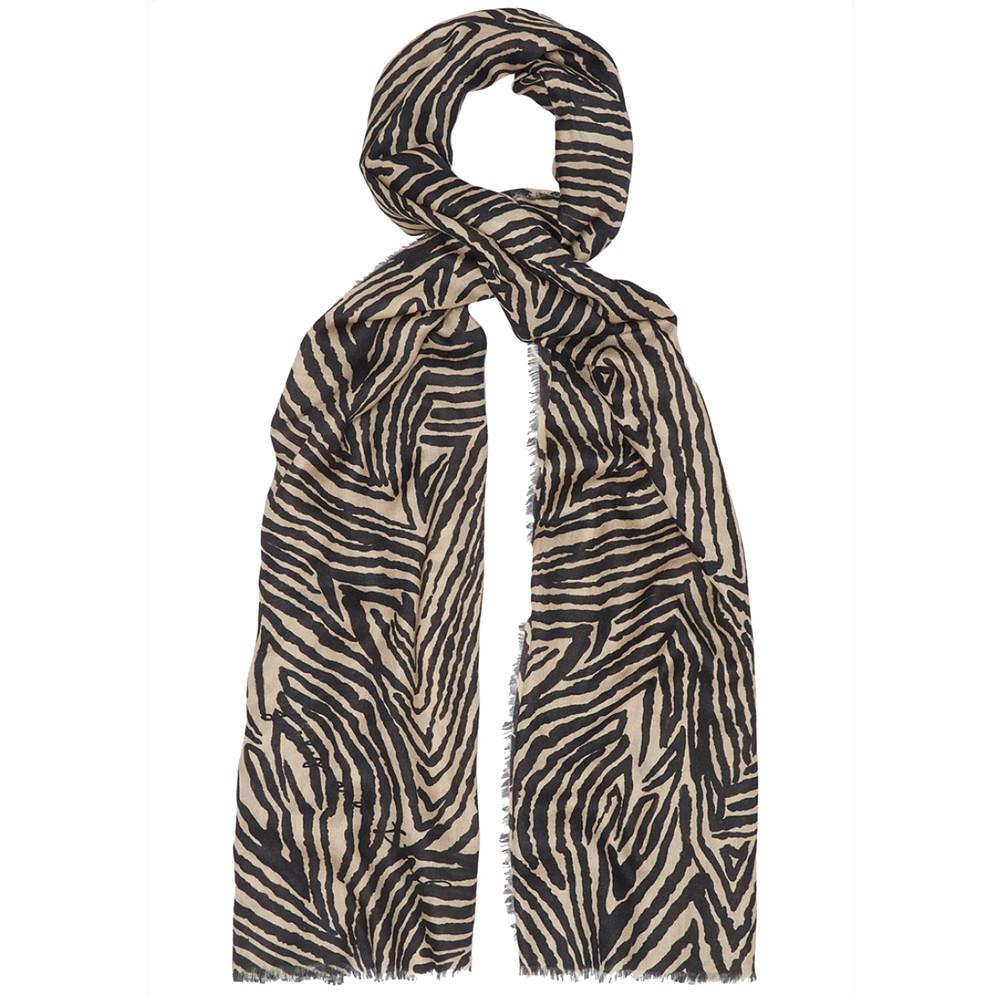 Zebra Silk Scarf - Multi