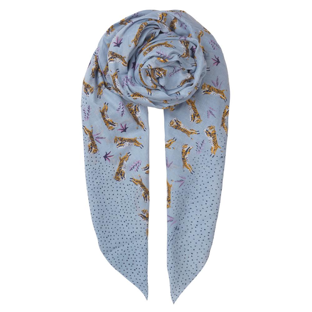 Kenya Cotton Scarf - Dusty Blue
