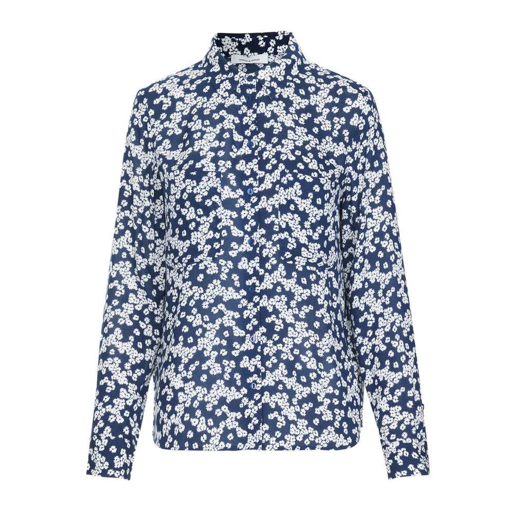 Milly AOP Shirt - Blue Daisy