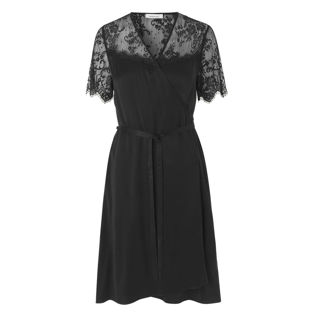 Simona Lace Dress - Black
