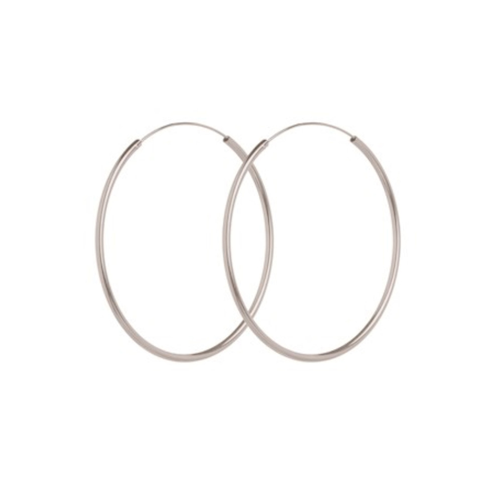 Large Plain Hoop - Silver