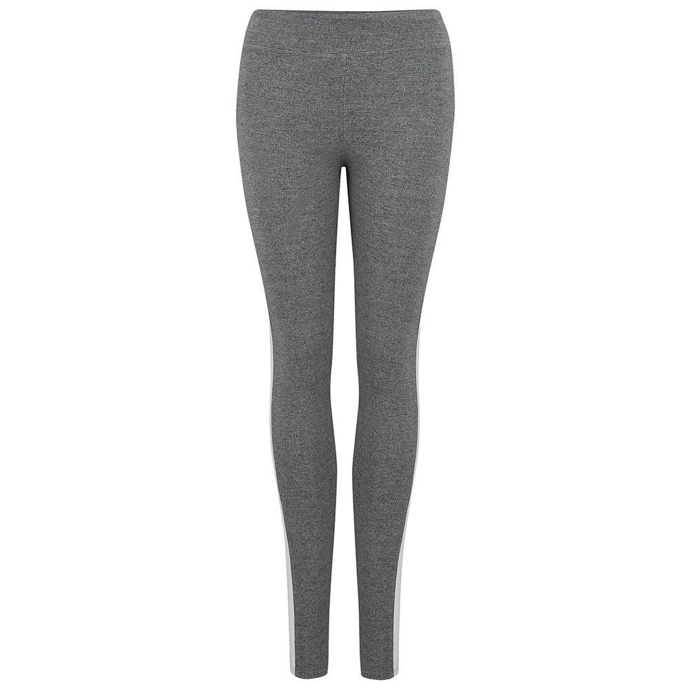Colour Block Legging - Heather Grey