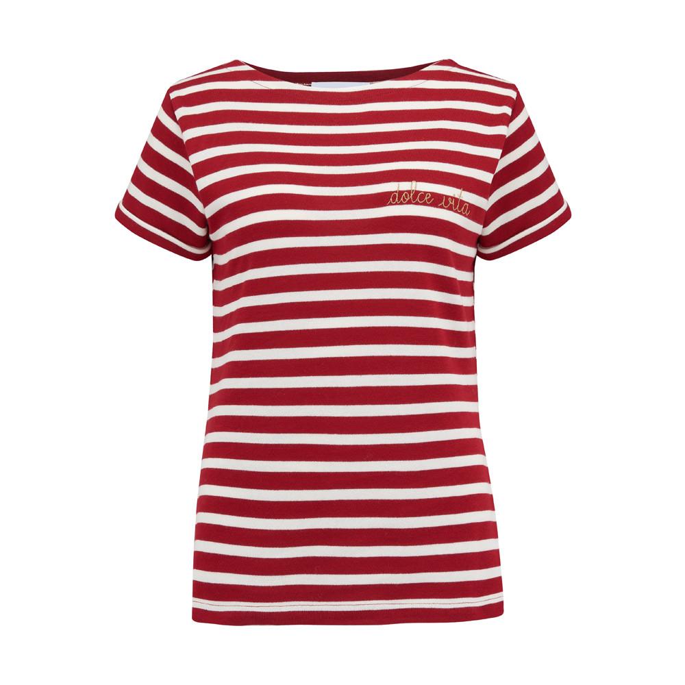 Sailor Dolce Vita Short Sleeve Tee - Red & White
