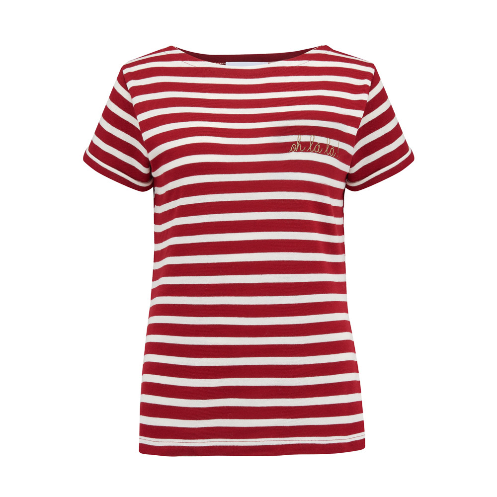 Sailor Oh La La Short Sleeve Tee - Red & White