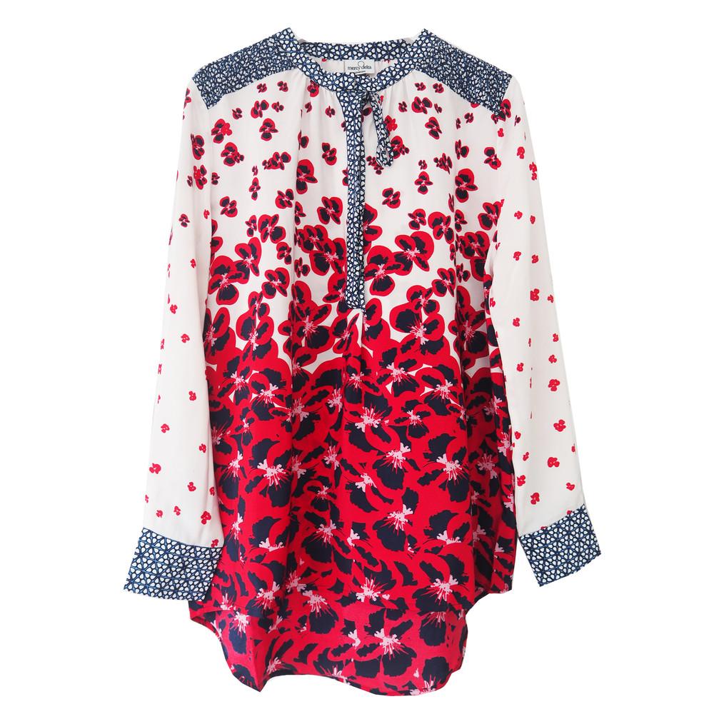 Stowe Silk Blouse - Poppy