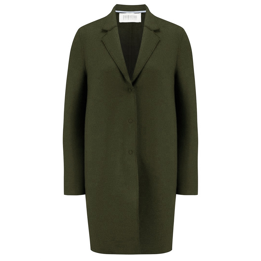 Cocoon Wool Coat - Military