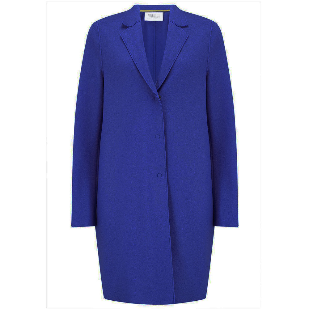 Cocoon Wool Coat - Bright Blue