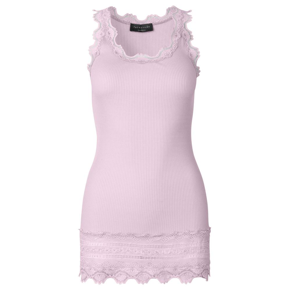 Wide Lace Silk Blend Vest - Violet Ice