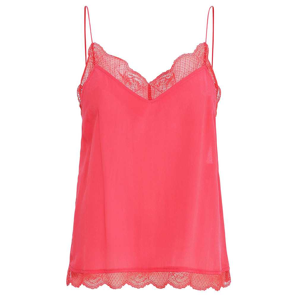 Poulin Lace Camisole - Rouge Red